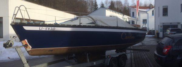 Segelboot im neuen Glanz