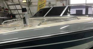 Aufbereitung / Designfolierung eines Stingray Bootes am Bodensee
