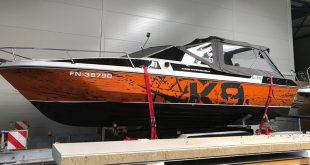 Bootsüberholung eines Motorbootes am Bodensee